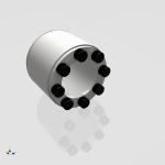 Blocos FP 3D:  Bucha Cônica / Anel de bloqueio 3D SÉRIE TAS 3012 [ipart]