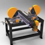 Blocos FP 3D:  Maquina de acabamento – Disco de rebarbas