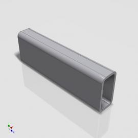 Blocos FP 3D:  Tubo Retangular / Quadrado 3D Paramétrico - Inventor