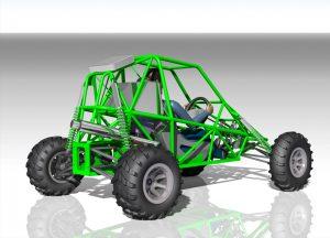 Blocos FP: Chassi Gaiola Buggy 3D