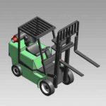 Blocos FP 3D:  Empilhadeira Industrial 3D