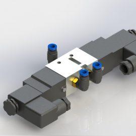 Blocos FP 3D:  Válvula Duplo Solenoide 3D
