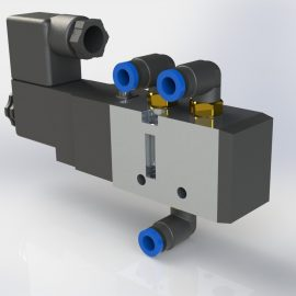 Blocos FP 3D:  Válvula Simples Solenoide 3D