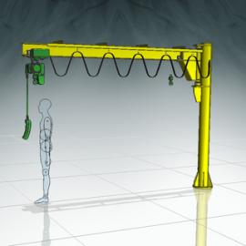 Blocos FP 3D:  Talha com Braço Giratório