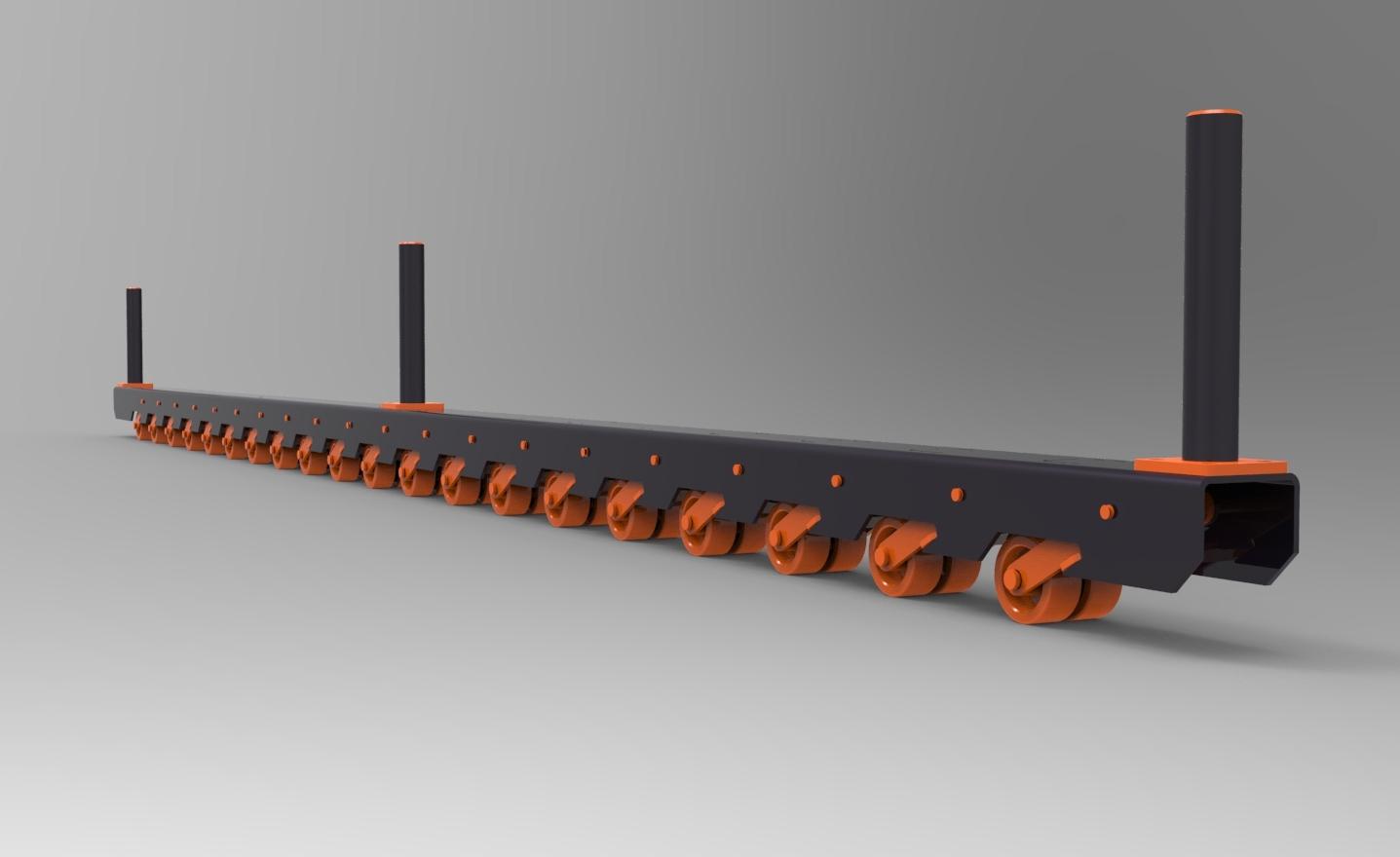 Imagens de #A84923 Blocos FP 3D: Trilho de Rodízios de Pressão – Blocos Fabrica do  1437x880 px 3456 Bloco Banheiro Autocad 3d