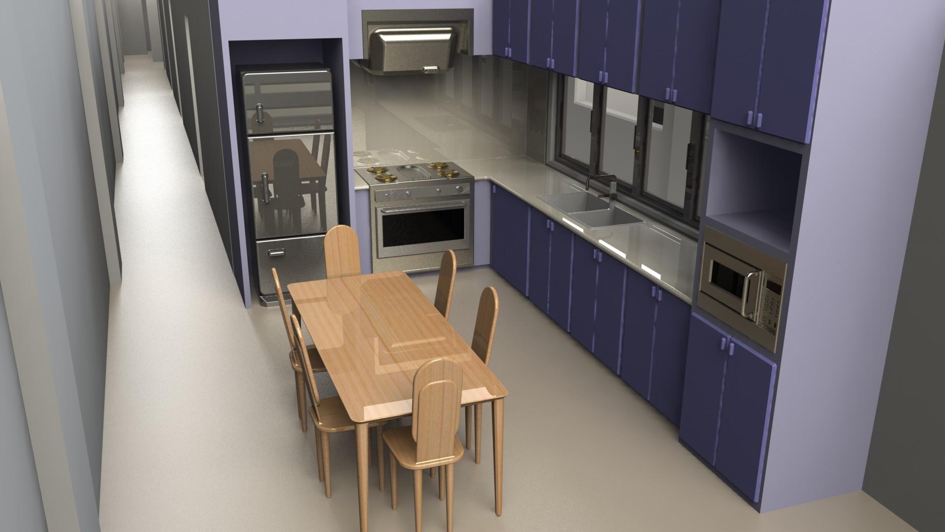 Blocos FP 3D: Cozinha completa 3D – Blocos Fabrica do Projeto #876745 1920 1080