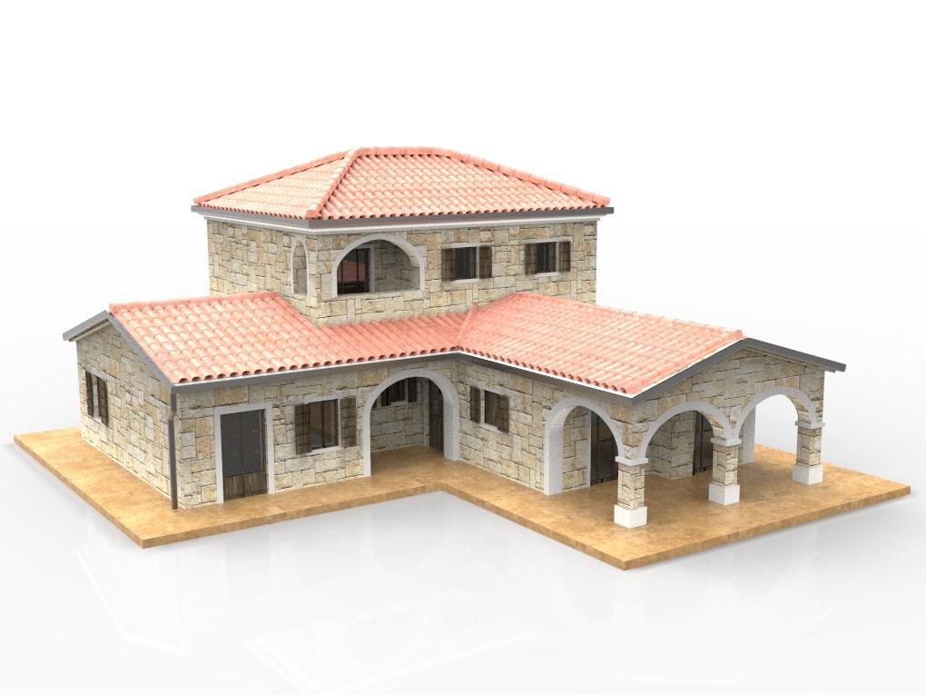 Blocos Fp 3d Bloco Casa De Pedra Blocos Fabrica Do Projeto