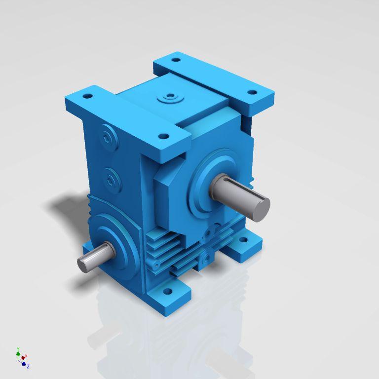 Blocos FP 3D:  Redutor de Rosca Sem-Fim 12 Tamanhos 4″a 9″ 3D [ipart]