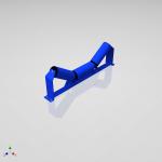 Blocos FP 3D:  Cavalete Roletes de Carga 3D – Correia Transportadora – 40 Tamanhos [ipart]