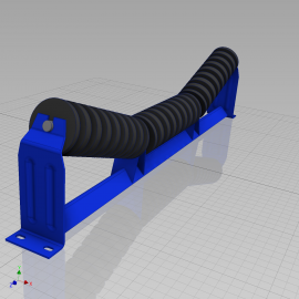 Blocos FP 3D:  Cavalete Roletes de Impacto 3D - Correia Transportadora - 20 tamanhos [ipart]
