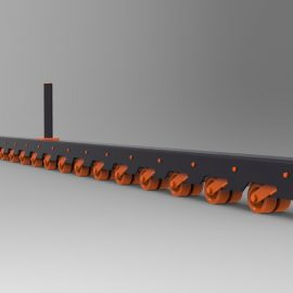 Blocos FP 3D:  Trilho de Rodízios de Pressão
