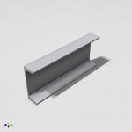 "Blocos FP 3D:  Viga ""U"" Americana Paramétrica – Inventor"