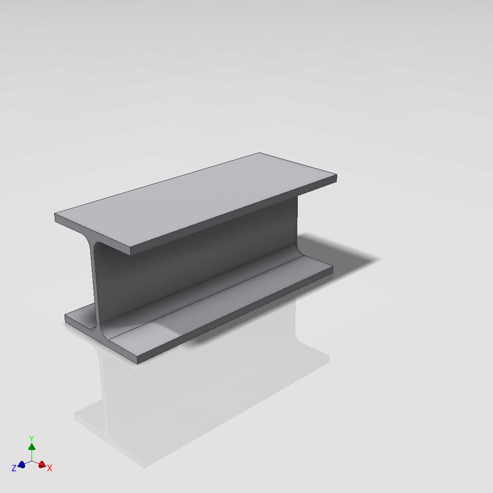 Blocos FP 3D:  Viga W4 a W27 Paramétrica – Inventor