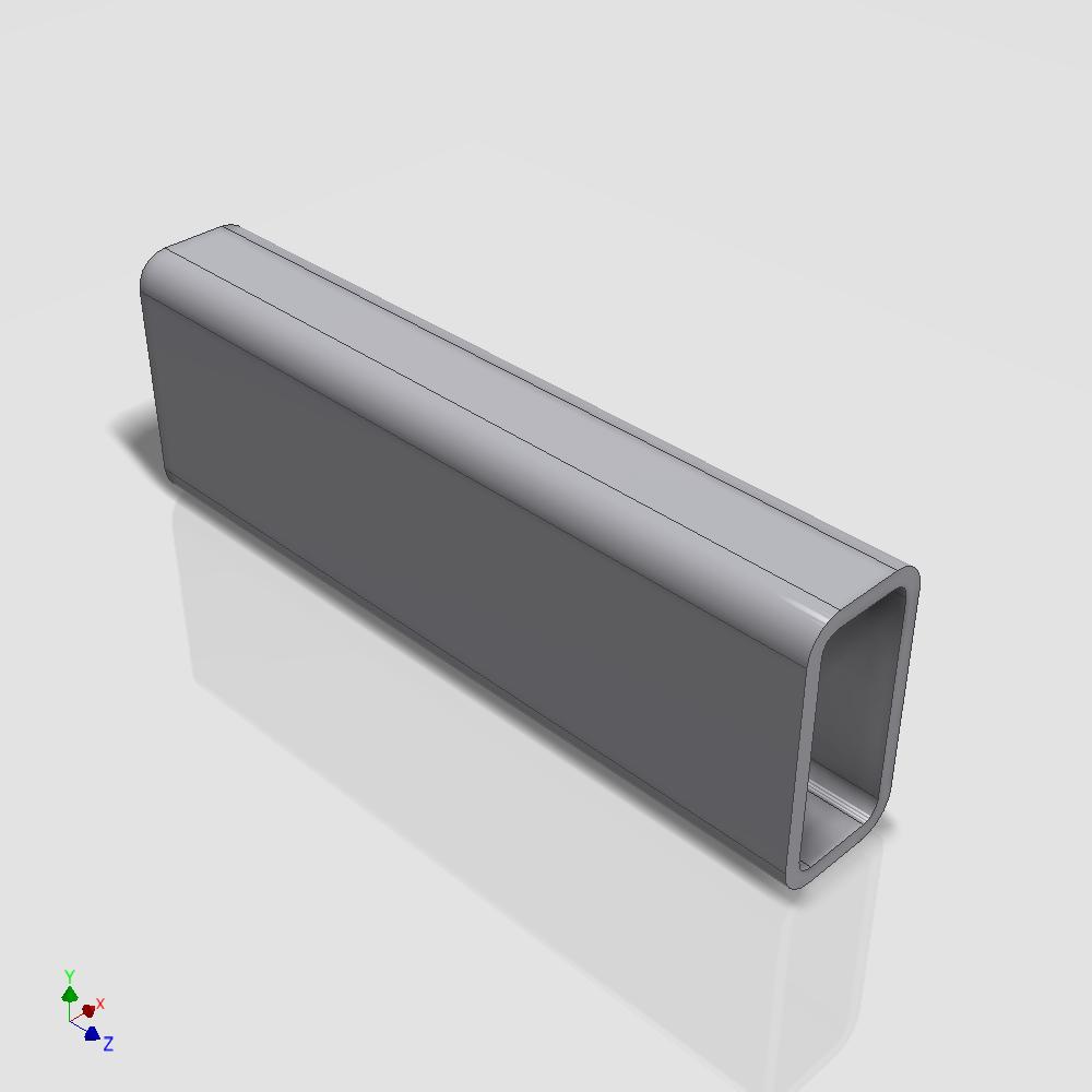 Blocos FP 3D:  Tubo Retangular / Quadrado 3D Paramétrico – Inventor