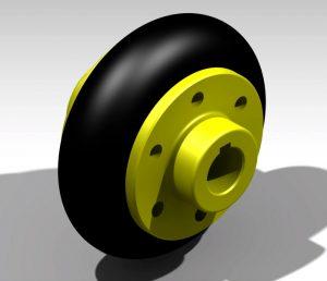 Blocos FP 3D:  Acoplamento Elástico Tipo Pneu