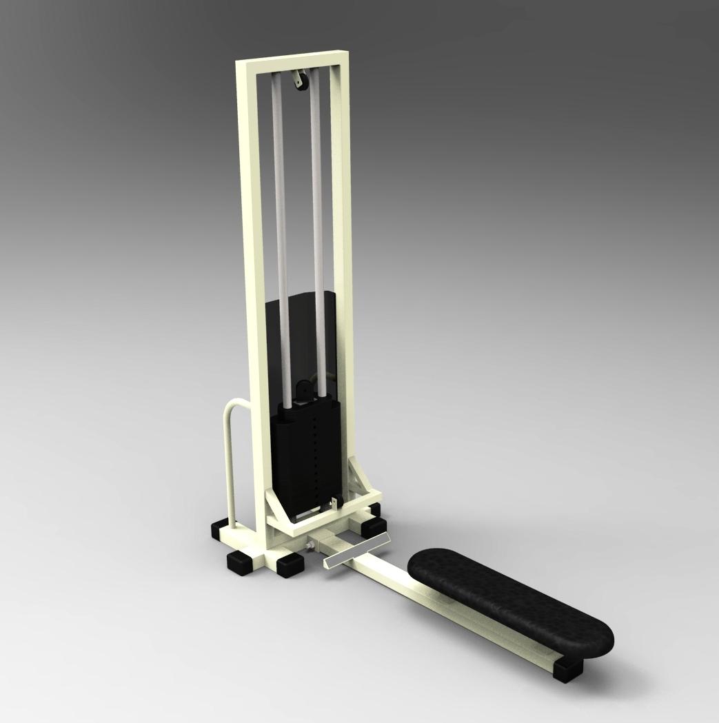 Blocos FP 3D:  Puxada Baixa- Equipamentos Academia 3D – Musculação