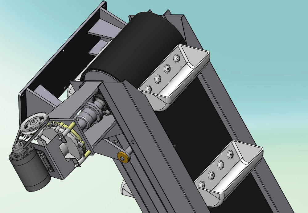Blocos FP 3D:  Elevador de caçambas – Tolva 3D
