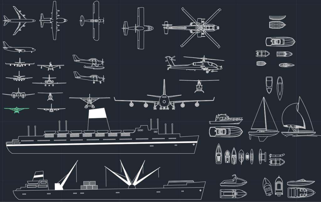 Blocos FP: Aviões, Navios e Embarcações