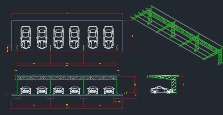 Blocos FP: Garagem para Carros