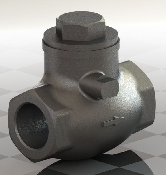 Blocos FP 3D:  Válvula de Retenção tipo Portinhola