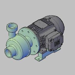 "Blocos FP 3D:  Bomba Centrífuga Bombinox BL30 2""x2"" 2HP"
