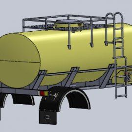 Blocos FP 3D:  Caminhão tanque: Tanque 3D