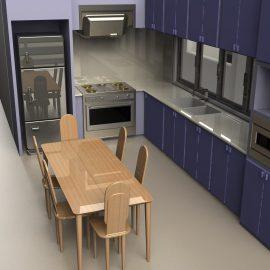 Blocos FP 3D:  Cozinha completa 3D
