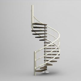 Escada Caracol 3d Blocos Fabrica Do Projeto