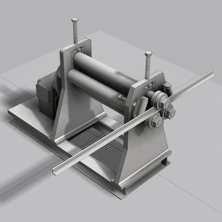 Blocos FP 3D:  Calandra de Perfil 3D