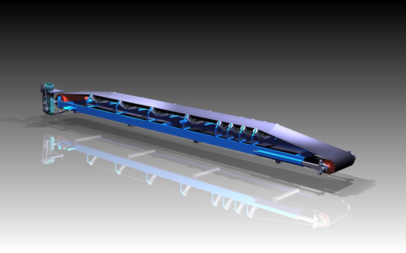 Blocos FP 3D:  Correia Transportadora 30″ 3D
