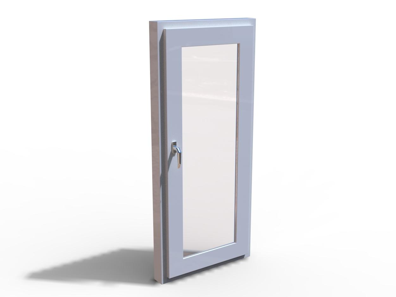Blocos FP 3D:  Porta de Vidro Residencial
