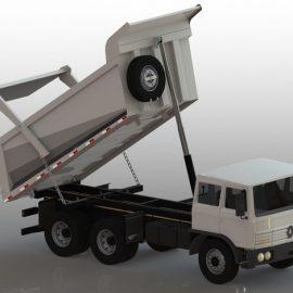 Blocos FP 3D:  Caminhão Caçamba Meia Cana 3D