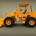 Blocos FP 3D:  Pá Carregadeira Hidráulica 3D