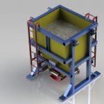 Blocos FP 3D:  Silo de com Sistema de Distribuição de Concreto